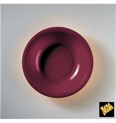 Plato de Plastico Hondo Burdeos Round PP Ø195mm (600 Uds)