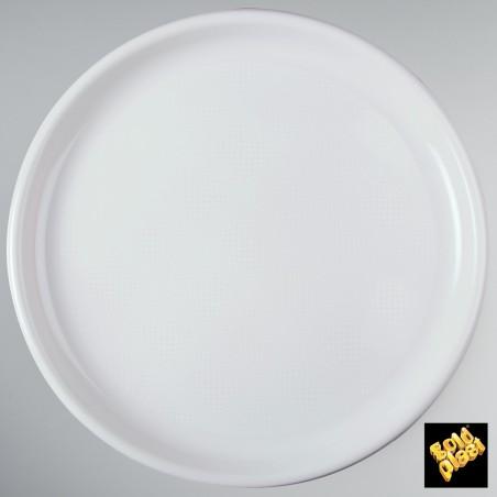 Plato de Plastico para Pizza Blanco Ø350mm (12 Uds)