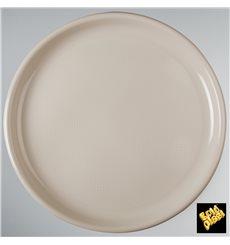 Plato de Plastico para Pizza Beige Round PP Ø350mm (12 Uds)
