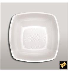 Plato de Plastico Hondo Blanco Square PP 180mm (300 Uds)