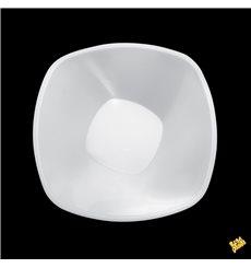 "Bol de Plástico PP ""Square"" Blanco 1250ml Ø21cml (60 Uds)"