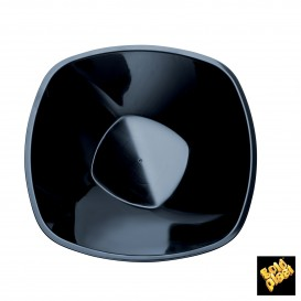Bol de Plastico Negro Ø210mm 1250ml (30 Uds)