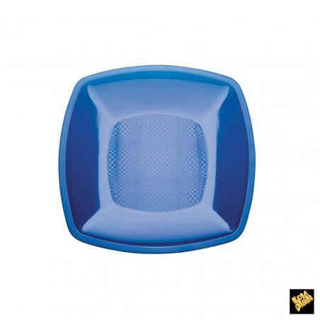 Plato de Plastico Llano Azul Transp. PS 180mm (150 Uds)