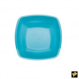 Plato de Plastico Hondo Turquesa PP 180mm (25 Uds)
