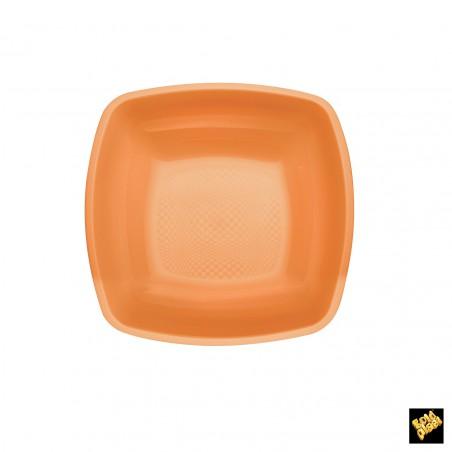 Plato de Plastico Hondo Naranja PP 180mm (25 Uds)