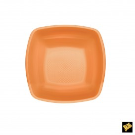 Plato de Plastico Hondo Naranja PP 180mm (150 Uds)