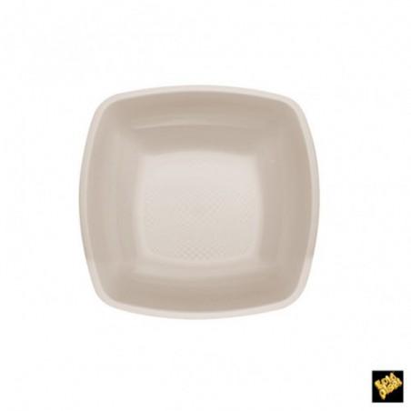 Plato de Plastico Hondo Beige PP 180mm (25 Uds)