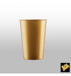 Vaso de Plastico Moon Oro PS 230ml (35 Uds)