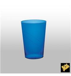 Vaso de Plastico Moon Azul Transp. PS 230ml (50 Uds)