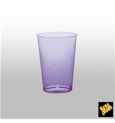 Vaso de Plastico Moon Lila Transp. PS 230ml (1000 Uds)