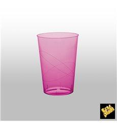 Vaso de Plastico Moon Fucsia Transp. PS 230ml (50 Uds)