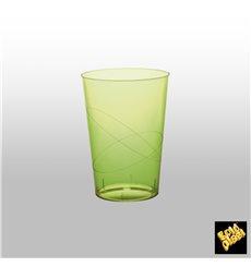 Vaso de Plastico Moon Verde Lima Transp. PS 230ml (50 Uds)