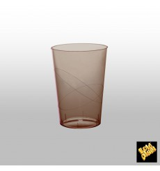 Vaso de Plastico Moon Marron Transp. PS 230ml (1000 Uds)