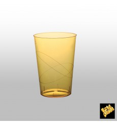 Vaso de Plastico Moon Amarillo Transp. PS 230ml (50 Uds)