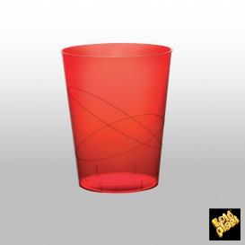 Vaso de Pastico Rojo Transp. PS 350ml (500 Uds)