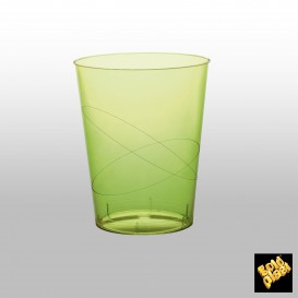Vaso de Pastico Verde Lima Transp. PS 350ml (50 Uds)