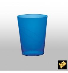 Vaso de Plastico Moon Azul Transp. PS 350ml (20 Uds)