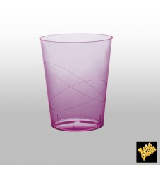 Vaso de Plastico Moon Lila Transp. PS 350ml (400 Uds)