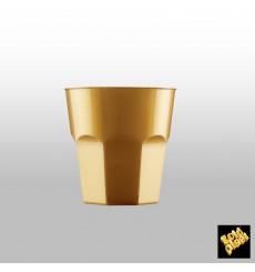 Vaso Plastico para Cocktail Oro PS Ø73mm 220ml (1000 Uds)