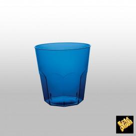 Vaso Plastico Cocktail Azul Transp. PS Ø73mm 220ml (50 Uds)