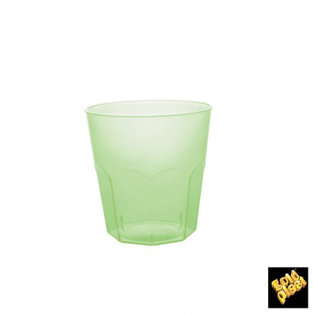 Vaso Plastico Verde Lima Transp. PS Ø73mm 220ml (50 Uds)