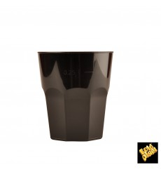 Vaso Plastico para Cocktail Negro PP Ø84mm 270ml (420 Uds)