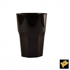 Vaso Plastico para Cocktail Negro PP Ø84mm 270ml (200 Uds)