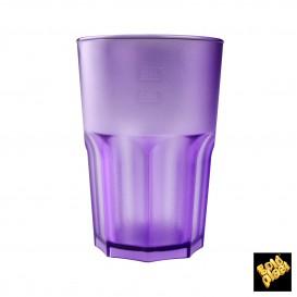 Vaso de Plastico Naranja Transp. SAN 400ml (75 Uds)