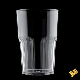 Vaso de Plastico Transparente SAN Ø85mm 400ml (5 Uds)