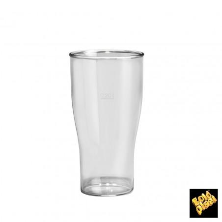 Vaso Plastico para Cerveza Transp. SAN Ø73mm 300ml (100 Uds)
