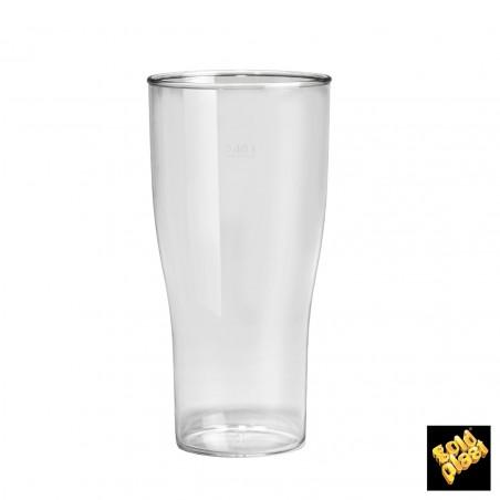 Vaso Plastico para Cerveza Transp. SAN Ø73mm 200ml (5 Uds)
