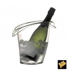 Cubitera de Plastico para 1 Botella Transp. SAN (1 Ud)