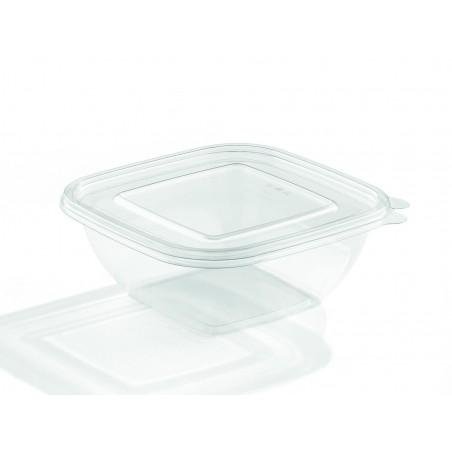 Bol de Plástico Cuadrado 190x50mm PET 1000ml (50 Uds)