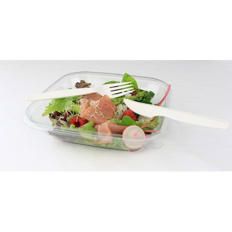 Tenedor Biodegradable PLA Crema 160mm (50 Uds)