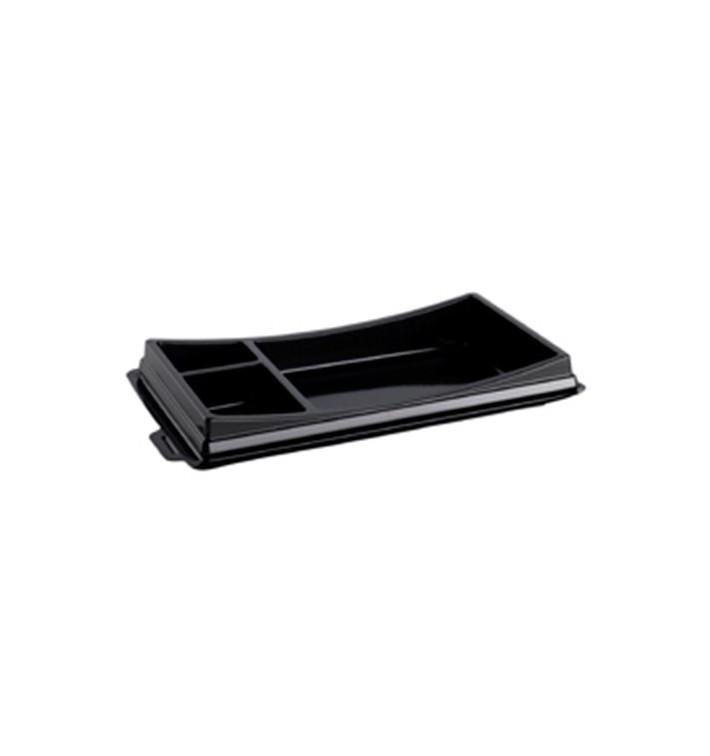 Envase para Sushi Negro 199x113mm (10 Uds)
