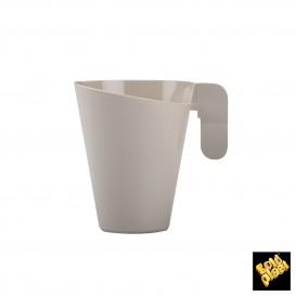 Taza de Plastico Design Crema 155ml (12 Uds)