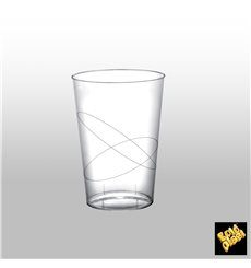 Vaso de Plastico Moon Transparente PS 230ml (50 Uds)