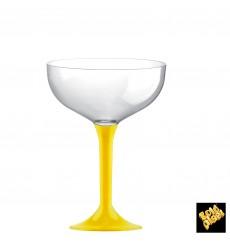Copa Plastico Champan Pie Amarillo 200ml 2P (20 Uds)