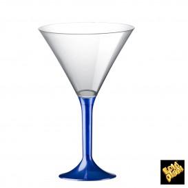 Copa de Plastico Cocktail con Pie Azul Perlado 185ml (200 Uds)