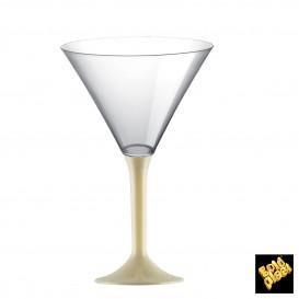 Copa de Plastico Cocktail con Pie Crema 185ml (200 Uds)