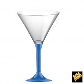 Copa de Plastico Cocktail con Pie Azul Transp. 185ml (20 Uds)