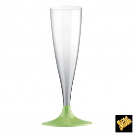 Copa de Plastico Cava con Pie Verde Lima 140ml (200 Uds)