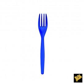 Tenedor de Plastico PS Azul Perlado 180mm (240 Uds)