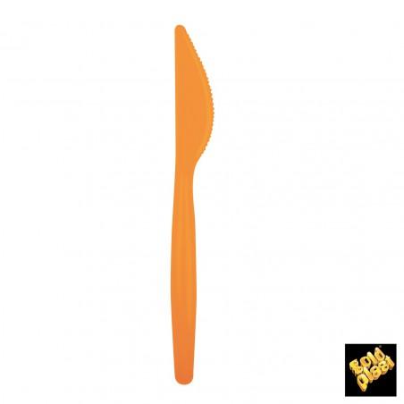 Cuchillo de Plastico Easy PS Naranja 185mm (20 Uds)