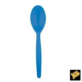 Cuchara de Plastico Easy PS Azul Transp. 185 mm (240 Uds)