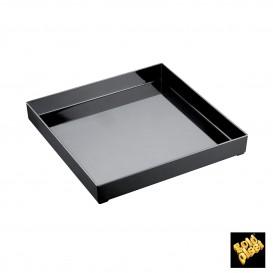 Bandeja Plastico Tray Negra 30x30cm (9 Uds)