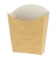 Caja Kraft para Fritas Mediana 8,2x3,5x12,5cm (500 Uds)
