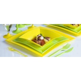 Plato de Plastico Llano Verde Lima Nice PP 180mm (150 Uds)