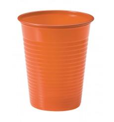 Vaso de Plastico Naranja PS 200ml (50 Uds)