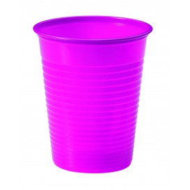 Vaso de Plastico Fucsia PS 200ml (50 Uds)